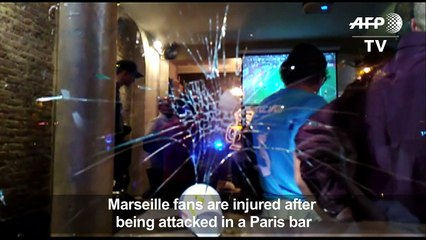 French football supporters attacked in Paris bar