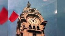 20 Mai 1968 : deux cheminots hissent symboliquement un drapeau rouge sur le toit de la gare de Limoges