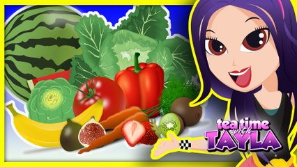 Learn Fruits and Vegetables for Kids | Healthy Habits for Children | Healthy Food for Babies on Tea Time with Tayla