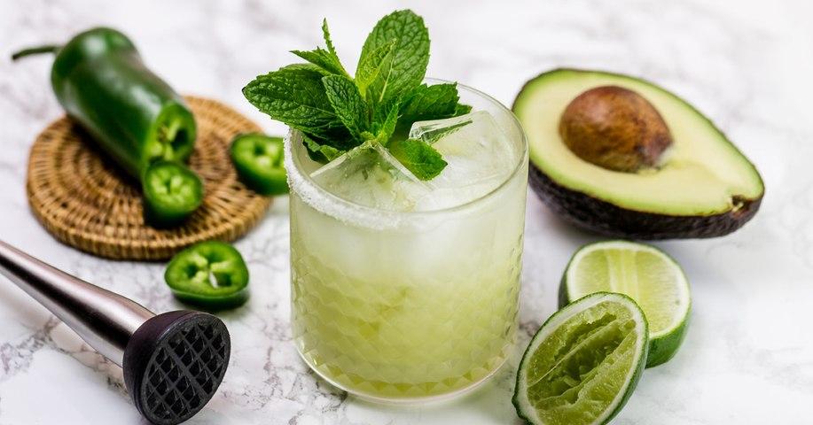 Spicy Mint Avocado Margarita Cocktail Recipe - Liquor.com