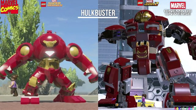 Lego Marvel Comics VS Lego MCU!!!