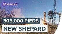 Record de Blue Origin : 351,000 pieds atteints par New Shepard