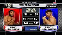 Brad Solomon vs Paddy Gallagher (27-04-2018) Full Fight