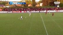 Ouverture du score d'Alexis BOSETTI !!! Sur une erreur du défenseur BOSETTI recupère un ballon au second poteau et frappe. 0-1 pour le Stade Lavallois.
