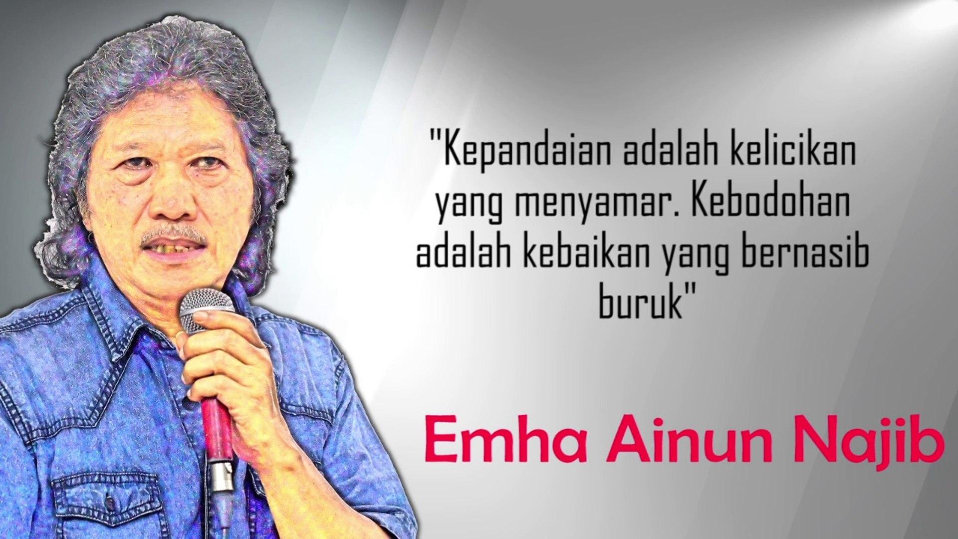 Wisdom Series Episode Emhan Ainun Najib Video Dailymotion