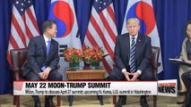 """Moon to meet Trump at White House May 22 ahead of Kim-Trump meeting; White House """"No change in ROK-US defense posture"""""""