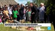 Emmanuel Macron sur l''île d''Ouvéa, en Nouvelle-Calédonie