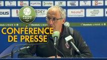 Conférence de presse FC Sochaux-Montbéliard - Clermont Foot (1-3) : Peter ZEIDLER (FCSM) - Pascal GASTIEN (CF63) - 2017/2018