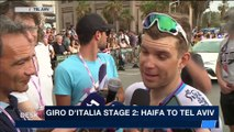 i24NEWS DESK | Giro d'Italia 2nd stage finishes in Tel Aviv | Saturday, May 5th 2018