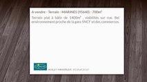 A vendre - Terrain - MARINES (95640) - 700m²