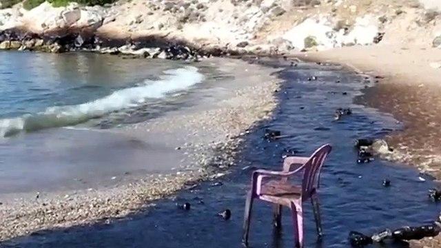 油船泄漏造成污染 希腊政府紧急清理