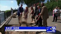 WABC Ground Breaking Ceremony for Phase I of Sea Wall Repair on East River Esplanade