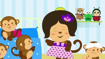 Five Little Monkeys Jumping  Nursery Rhymes TV