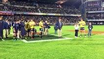 La cérémonie pour le dernier match d'Aurélien Rougerie en jaune et bleu