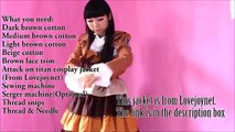 Anime Inspired Cosplay DIY : Sew Attack on Titan Inpired Dress/Costume(Easy)