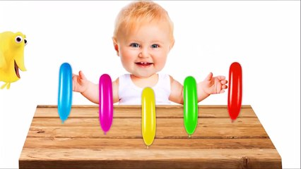 Learn Colors with Bowling and Tantrum Crybaby Balloons Colors for Kids - ابك عزيزي
