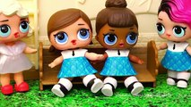 LOL Dolls Are New Cheerleaders at School - Baby Doll Play w/ L.O.L Surprise and Calico Critters Toys