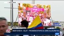 Giro d'Italia 2018: l'Italien Elia Viviani remporte la 3ème et dernière étape de la course en Israël