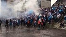 OM - Nice : les supporters lancent un « Aux armes » sur le parvis du stade Vélodrome