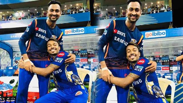IPL 2018 : Hardik Pandya and Krunal Pandya gives a perfect Brothers Goal | वनइंडिया हिंदी