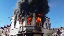 Violent incendie à Châtelet