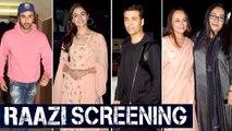 RAAZI Special Screening   Alia Bhatt, Ranbir Kapoor, Soni Razdan, Karan Johar And Other Stars Arrive