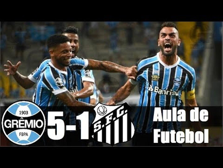Grêmio 5 x 1 Santos (HD 720p) AULA DE FUTEBOL ! Melhores Momentos - Brasileirão 06/05/2018