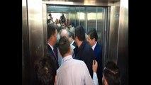 Cumhuriyet Halk Partisi´nin Cumhurbaşkanı adayı Muharrem İnce, CHP Genel merkezine geldi.  CHP Genel Başkanı Kılıçdaroğlu ile görüşecek olan İnce´nin geldiği CHP Genel Merkezi´nde asansör krizi yaşandı.