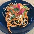 Salade de crevettes et litchis