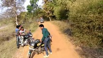 Tiger Passing very near to Bikers...!!!Lucky Bikers escape from Tiger attack...!!!!