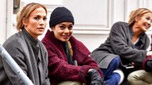 Jennifer Lopez and Vanessa Hudgens film Second Act: Stars bundle up on set of romantic comedy in New York