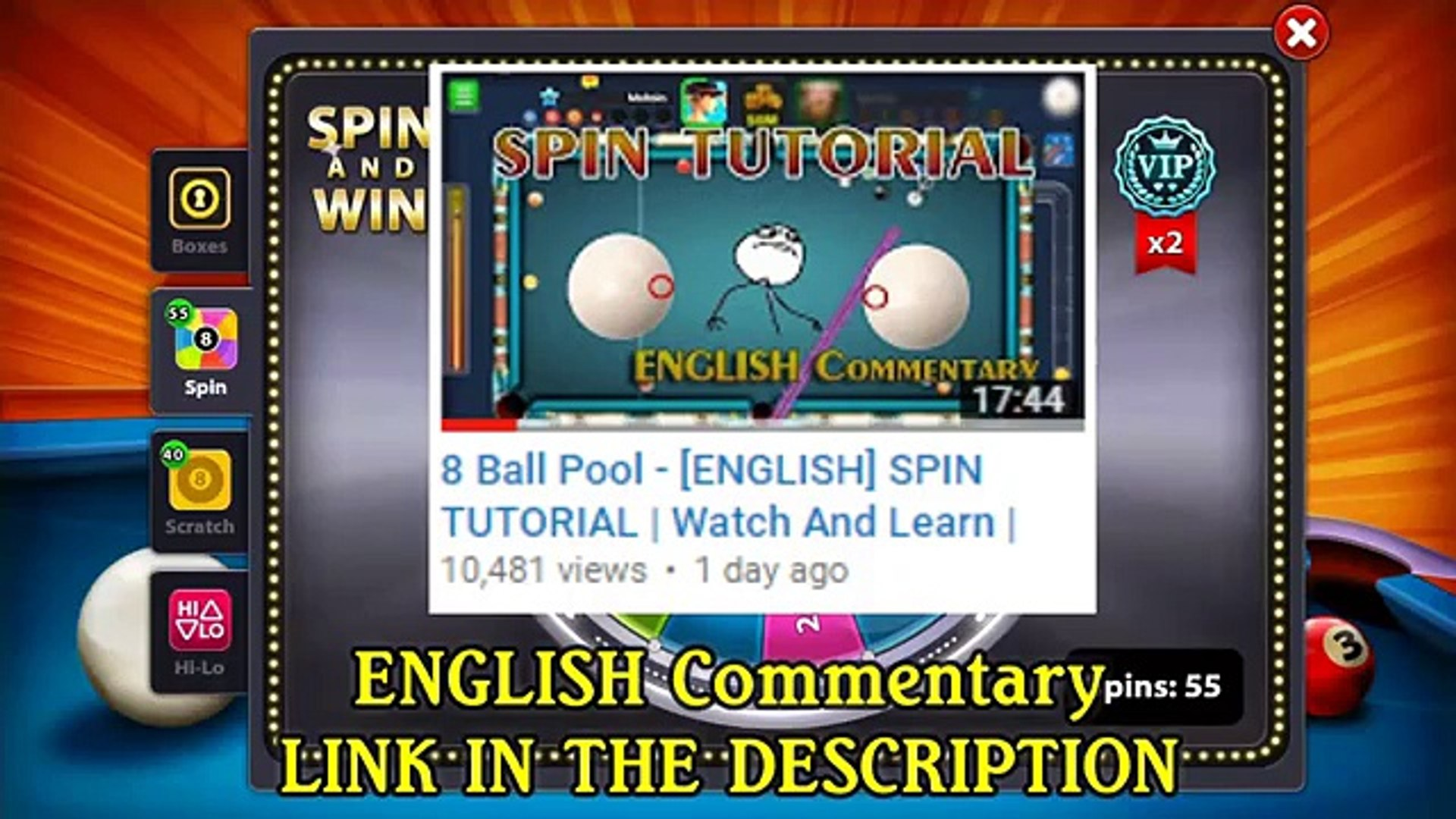 8 Ball Pool - [URDU/HINDI] SPIN TUTORIAL | Watch And Learn | Perfect Way To  Use Spin in 8 Ball Pool