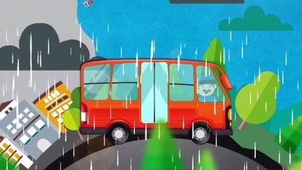 The Wheels On The Bus | Orange Bus | Popular Nursery Rhyme