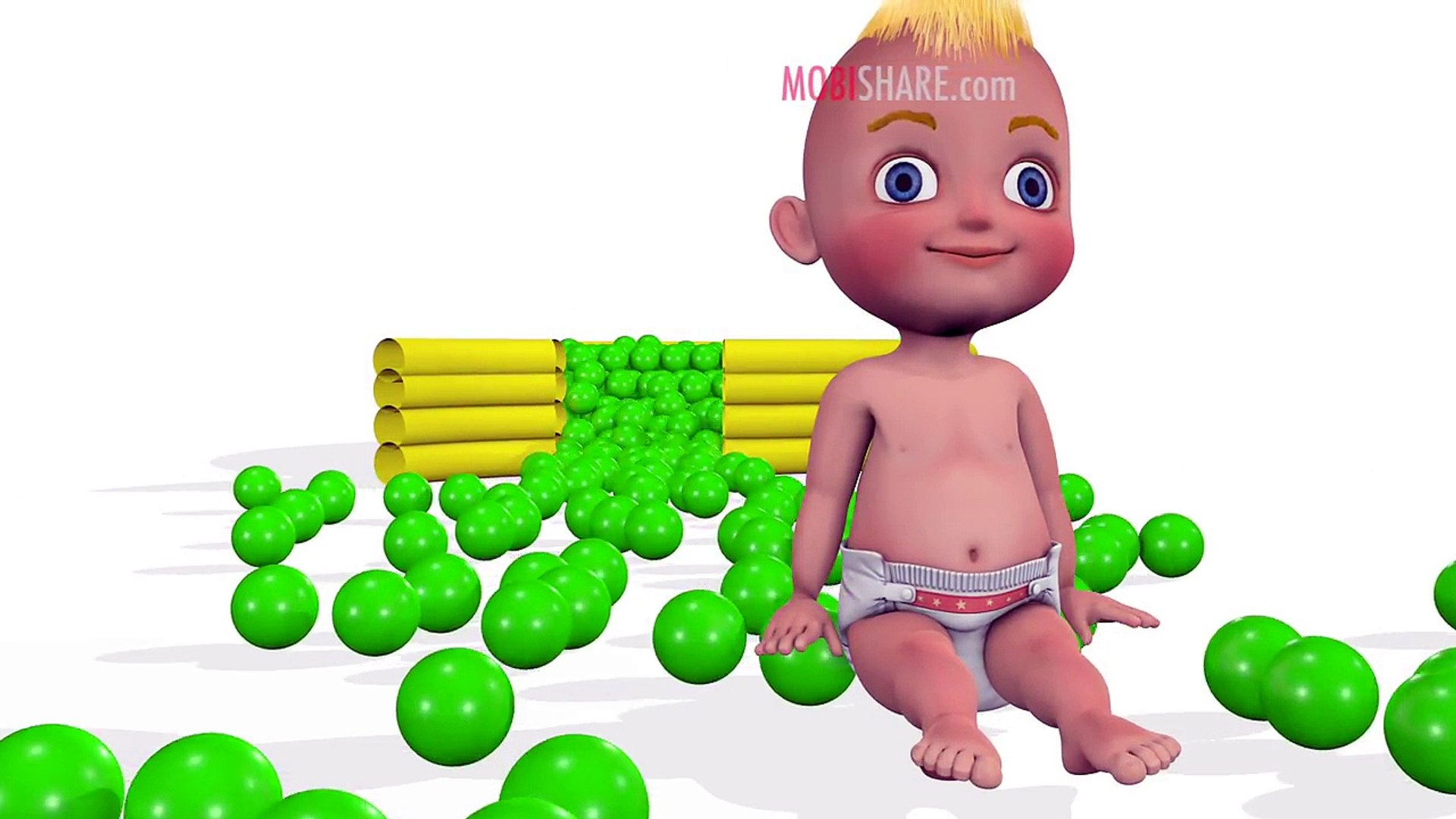 Learn Colors with Baby and Balls Kids Education Funny Video