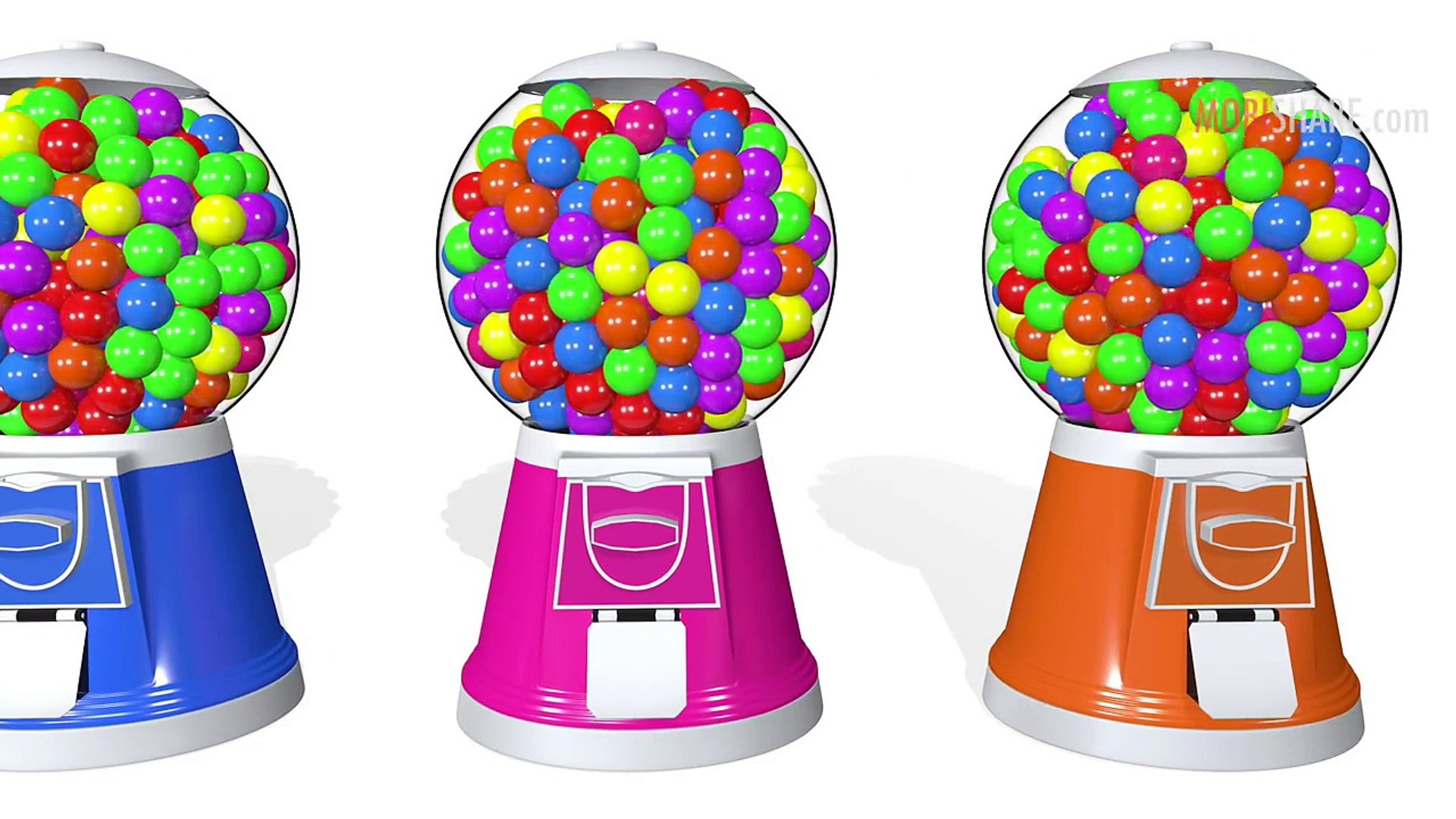 Learn Colors With Colorful Gumball Machines Kids Education Animation