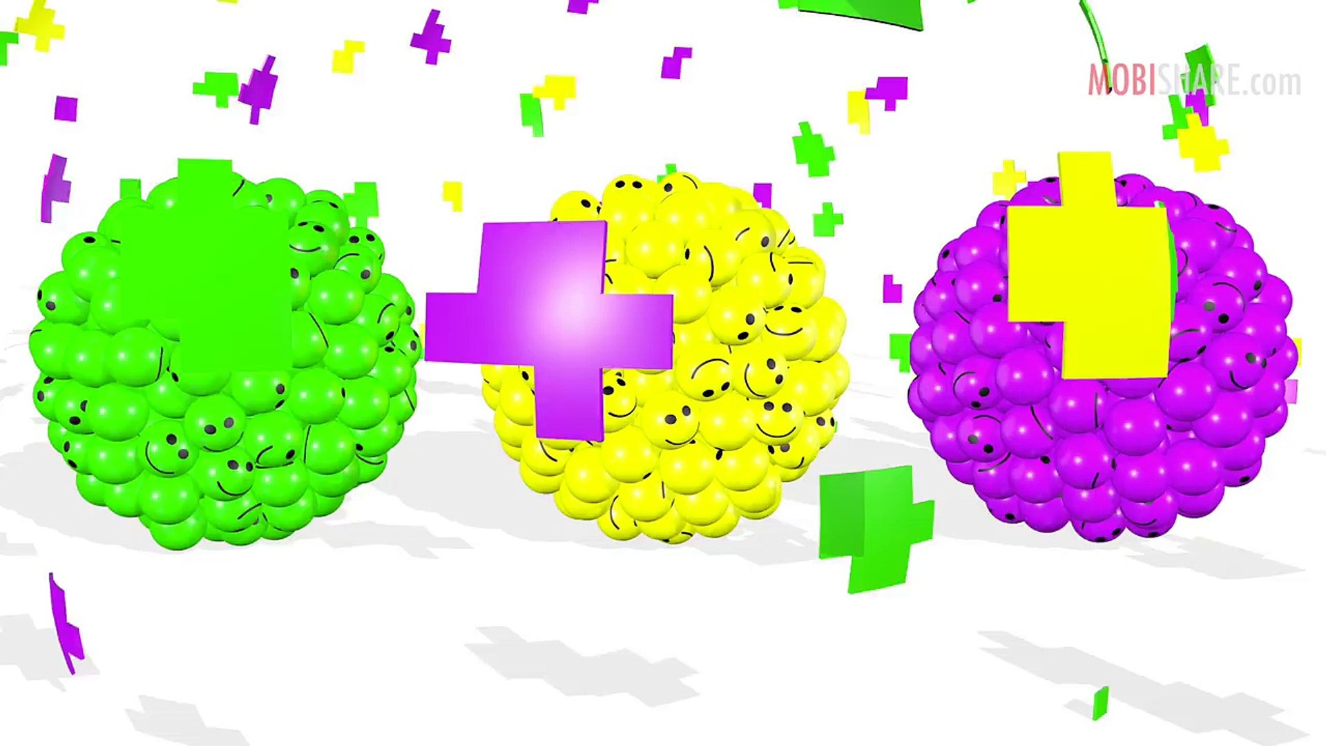 Learn Colors With Funny Smiley Balls Kids Education Learning...