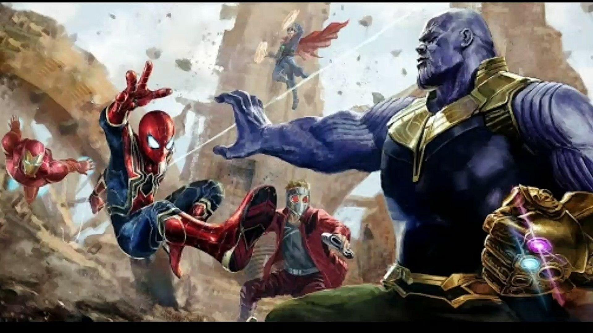 Avengers vs Thanos| Avengers infinity war Titan battle scene part 2| Hindi|