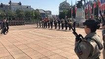 Des soldats du Génie décorés lors de la cérémonie du 8-Mai