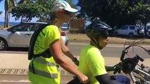 Nous étions en direct de l' arrivée de #Runhanditour dans la commune de Saint Leu #Lareunion #Mayotte #diversite
