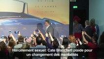 Harcèlement: Blanchett plaide pour un changement des mentalités