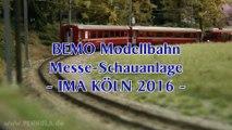 BEMO Modelleisenbahn Schauanlage auf der Modellbahn Ausstellung Köln 2016 - Ein Video von Pennula zum Thema Modellbahnanlage und Modelleisenbahnausstellung