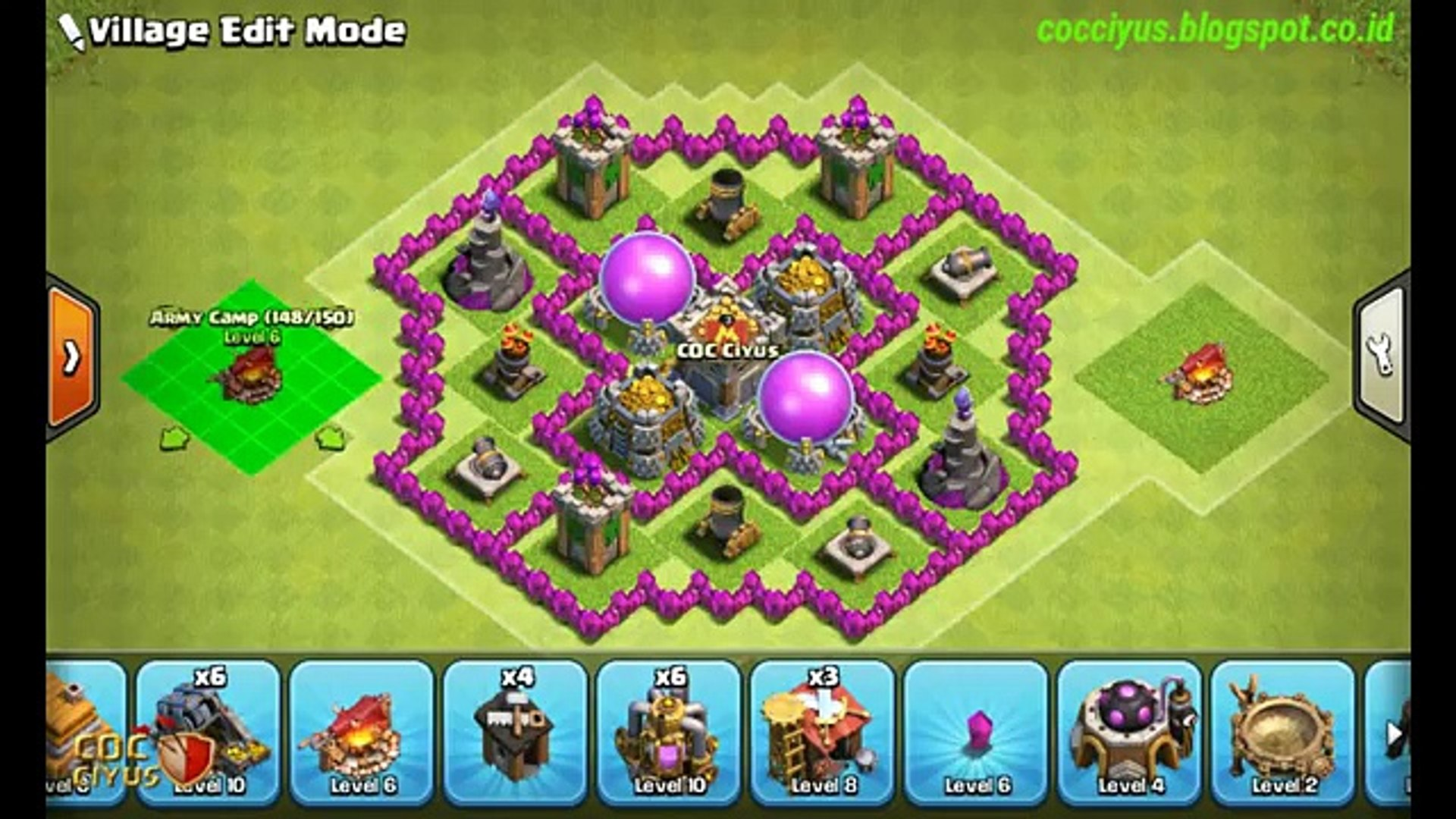 Coc Th 6 Defence Base Layout 9