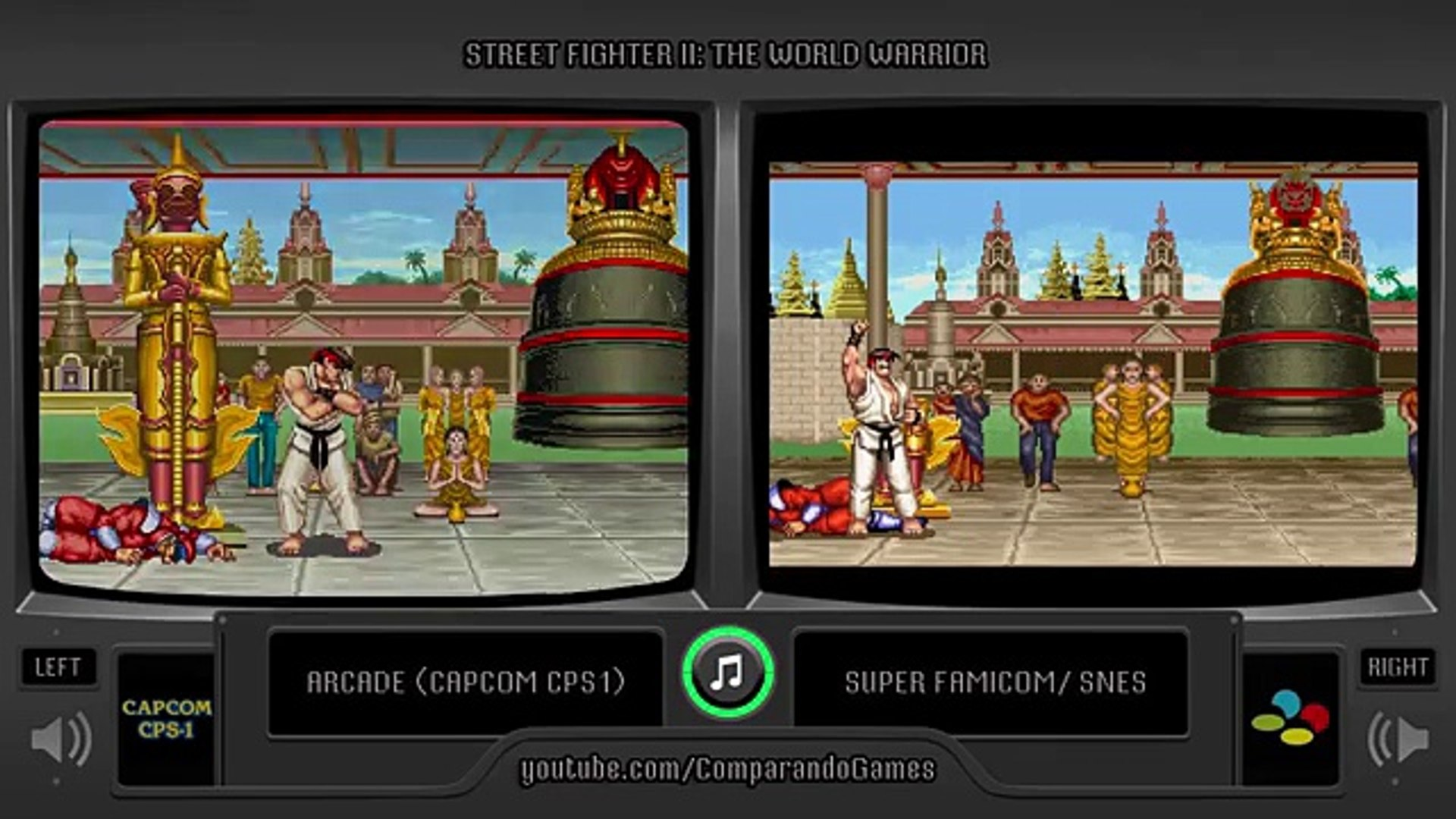 Street Fighter Ii Arcade Vs Snes All Endings Comparison Video Dailymotion