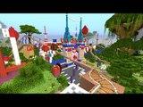 Minecraft: SUPER MONTANHA RUSSA NO PARQUE DE DIVERSÕES!! (Lunapark Roller Coaster)