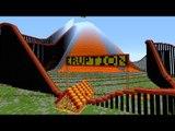 Minecraft: MONTANHA RUSSA DENTRO DE UM VULCÃO!! (Eruption Roller Coaster)
