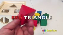 Learn Shapes, Colors, And Counting for Kids With Sorter Cube Toy And Wooden Blocks
