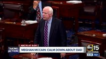 "Meghan McCain urges people to ""chill out"" about John McCain's health"