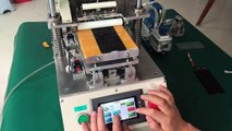 Automatic glue remove machine, remove oca glue for huawei nova e3 lcd, one key to start, remove glue automatically.