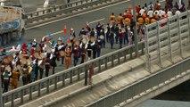 Etnospor'da yer alacak sporcular Yavuz Sultan Selim Köprüsü'nden atlarıyla geçti - İSTANBUL
