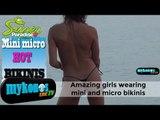 Amazing  girls wearing weird bikinis in Mykonos -Τα πιο  παράξενα μπικίνι  στην Μύκονο